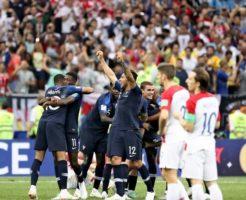 ワールドカップ2018決勝戦を制したフランス