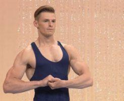 みんなで筋肉体操のイケメン外人(白人) (2)